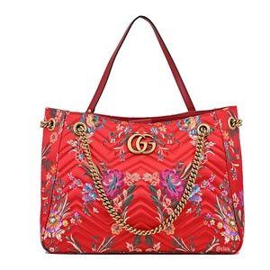 e02366c6b486 Gucci Bags - New Gucci Marmont Medium Gg Matelassé Floral Bag